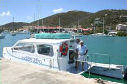 St John USVI Private Water Taxi for Kismet Villa Guests